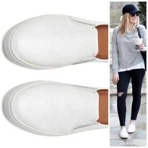 White Leather Frye Slip-on Sneaker Mule 9.5/9